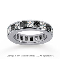 4 Carat Black and White Diamond 18k White Gold Eternity Band