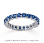 1 1/2 Carat Sapphire 18k White Gold Round Eternity Band