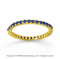 1/2 Carat Sapphire 14k Yellow Gold Round Eternity Band