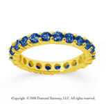 1 1/2 Carat Sapphire 18k Yellow Gold Round Eternity Band