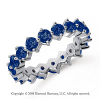 2 1/2 Carat Sapphire Platinum Round Open Prong Eternity Band