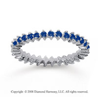 3/5 Carat Sapphire 18k White Gold Round Open Prong Eternity Band