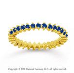 3/5 Carat Sapphire 18k Yellow Gold Round Open Prong Eternity Band