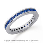 3/4 Carat Sapphire Platinum Channel Eternity Band