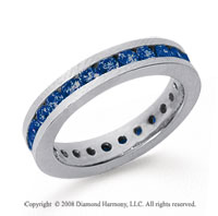 1 Carat Sapphire Platinum Channel Eternity Band