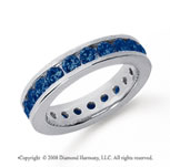 1 1/2 Carat Sapphire Platinum Channel Eternity Band