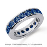 3 Carat Sapphire Platinum Channel Eternity Band