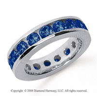 3 1/2 Carat Sapphire Platinum Channel Eternity Band