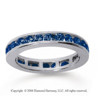 1/2 Carat Sapphire 14k White Gold Channel Eternity Band