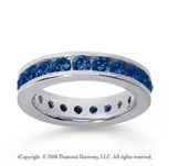 1 1/2 Carat Sapphire 14k White Gold Channel Eternity Band