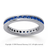 3/4 Carat Sapphire 18k White Gold Channel Eternity Band