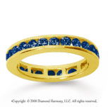 1/2 Carat Sapphire 14k Yellow Gold Channel Eternity Band