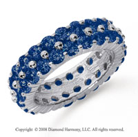 4 1/2 Carat Sapphire Platinum Double Row Eternity Band