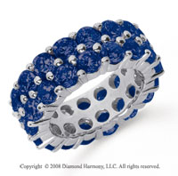 8 1/2 Carat Sapphire Platinum Double Row Eternity Band