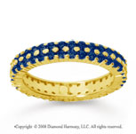 1 1/2 Carat Sapphire 18k Yellow Gold Double Row Eternity Band