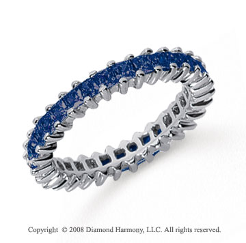 1 1/4 Carat Sapphire Platinum Princess Eternity Band