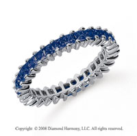 1 1/2 Carat Sapphire Platinum Princess Eternity Band