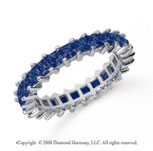 2 1/2 Carat Sapphire Platinum Princess Eternity Band