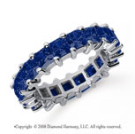 4 3/4 Carat Sapphire Platinum Princess Eternity Band