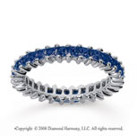 1 1/2 Carat Sapphire 14k White Gold Princess Eternity Band