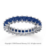 2 1/2 Carat Sapphire 18k White Gold Princess Eternity Band