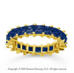 3 1/2 Carat Sapphire 18k Yellow Gold Princess Eternity Band