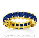 4 3/4 Carat Sapphire 18k Yellow Gold Princess Eternity Band
