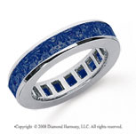 2 1/2 Carat Sapphire Platinum Princess Channel Eternity Band