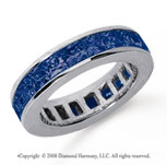 4 3/4 Carat Sapphire Platinum Princess Channel Eternity Band