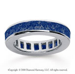 2 1/2 Carat Sapphire 14k White Gold Princess Channel Eternity Band