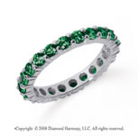 1 1/2 Carat Emerald Platinum Round Eternity Band