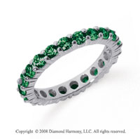 2 1/2 Carat Emerald Platinum Round Eternity Band