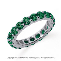 3 Carat Emerald Platinum Round Eternity Band