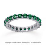 1 1/2 Carat Emerald 14k White Gold Round Eternity Band