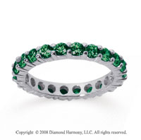 2 1/2 Carat Emerald 14k White Gold Round Eternity Band