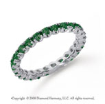 3/4 Carat  Emerald Platinum Round Four Prong Eternity Band