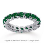 2 Carat  Emerald 14k White gold Round Four Prong Eternity Band