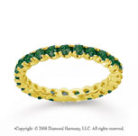 3/4 Carat  Emerald 18k Yellow gold Round Four Prong Eternity Band