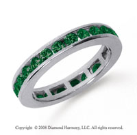 1/2 Carat Emerald Platinum Channel Eternity Band