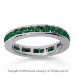 1/2 Carat Emerald 14k White Gold Channel Eternity Band