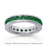 1 1/2 Carat Emerald 18k White Gold Channel Eternity Band
