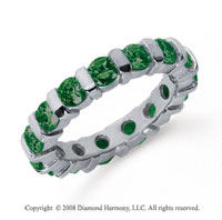 2 1/2 Carat Emerald Platinum Eternity Round Bar Band