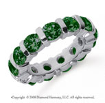 5 Carat Emerald Platinum Eternity Round Bar Band