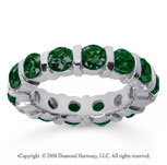 4 Carat Emerald 18k White Gold Eternity Round Bar Band