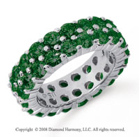 3 1/2 Carat  Emerald Platinum Double Row Eternity Band