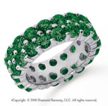 6 1/2 Carat  Emerald Platinum Double Row Eternity Band