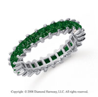 2 1/2 Carat Emerald Platinum Princess Eternity Band