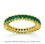 2 Carat Emerald 18k Yellow Gold Princess Eternity Band