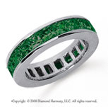 4 3/4 Carat Emerald Platinum Princess Channel Eternity Band