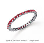 1/2 Carat Ruby Platinum Round Eternity Band